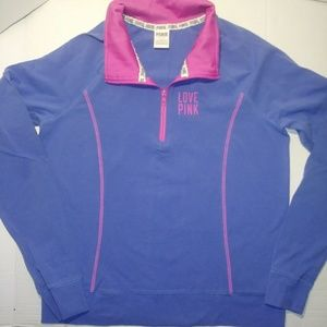 PINK VS Quarter Zip Sweater Size L